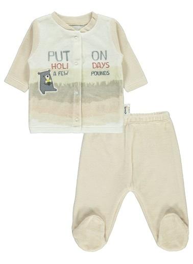 Civil Baby Erkek Bebek Pijama Takımı Bej